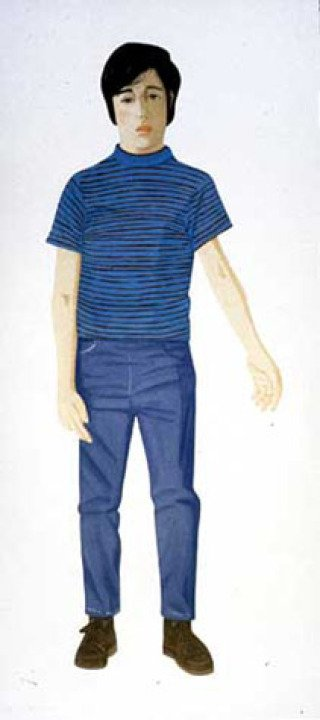 Boy with Striped Shirt, by Alex Katz