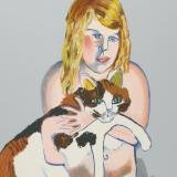 Alice Neel, Victoria with Cat