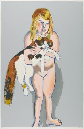 Victoria with Cat, by <a href='/site-admin/artists/artist/283'>Alice Neel</a>