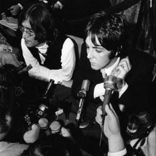 John Lennon, Paul McCartney, press conference announcing formation of Apple Records, NYC, 1968. art for sale