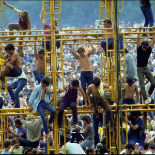 Elliott Landy, The sound tower, Woodstock Festival 1969. Bethel, NY.
