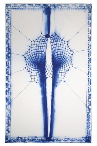 E.V. Day Double Black Hole (Blue and White) art for sale