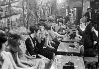 England. Liverpool. Youth at the Blue Angel beat club. 1964., by George Rodger