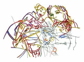 Sleeping Beauty Without The Castles, by Ghada Amer