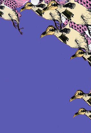 Olenna  Mokliak War Birds in Violet art for sale