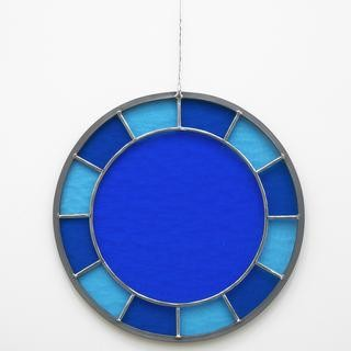 blue blue blue clock art for sale